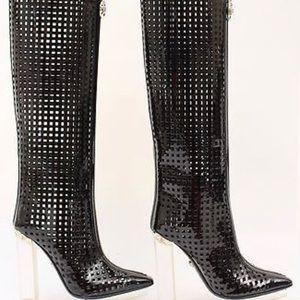 NWOB Authentic Versace black runway boots. Size 40